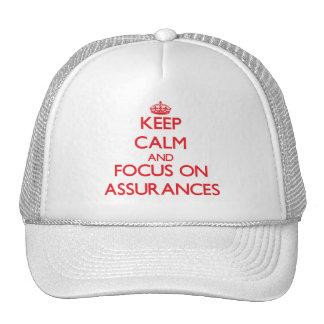 Keep calm and focus on ASSURANCES Hats