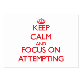 Keep calm and focus on ATTEMPTING Large Business Cards (Pack Of 100)