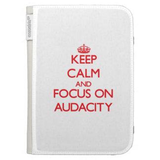 Keep calm and focus on AUDACITY Kindle 3G Cover