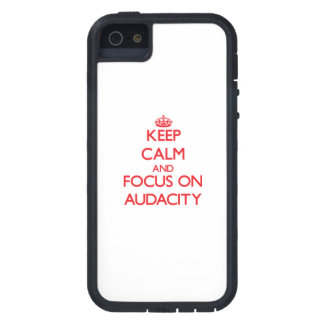 Keep calm and focus on AUDACITY iPhone 5 Cases