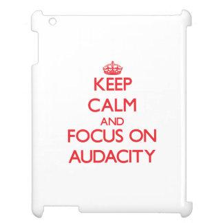 Keep calm and focus on AUDACITY iPad Cases