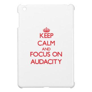 Keep calm and focus on AUDACITY iPad Mini Cases