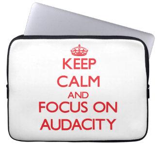 Keep calm and focus on AUDACITY Laptop Sleeve