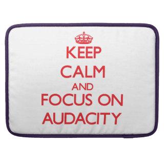 Keep calm and focus on AUDACITY Sleeve For MacBooks