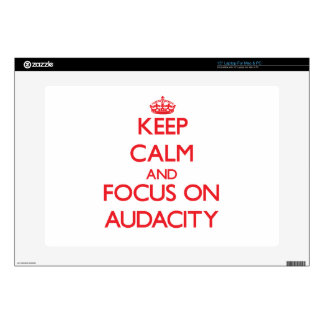 Keep calm and focus on AUDACITY Decal For Laptop