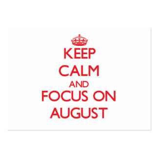 Keep calm and focus on AUGUST Business Card Templates