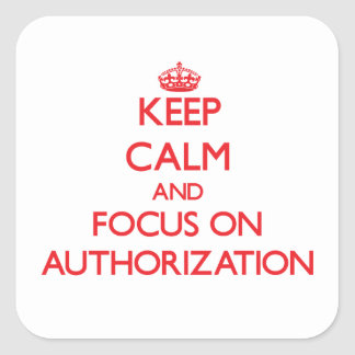 Keep calm and focus on AUTHORIZATION Sticker