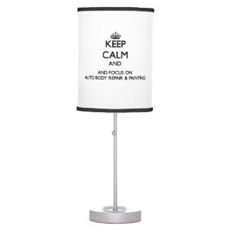 Keep calm and focus on Auto Body Repair & Painting Lamps