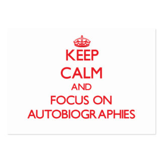 Keep calm and focus on AUTOBIOGRAPHIES Business Card Template