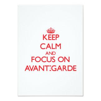 Keep calm and focus on AVANT-GARDE 5x7 Paper Invitation Card