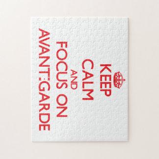 Keep calm and focus on AVANT-GARDE Jigsaw Puzzles