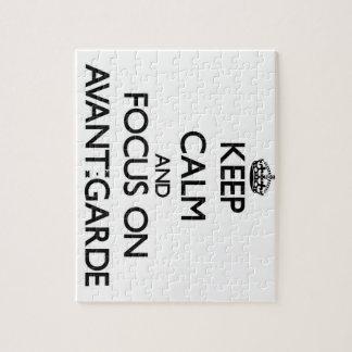Keep Calm And Focus On Avant-Garde Jigsaw Puzzle