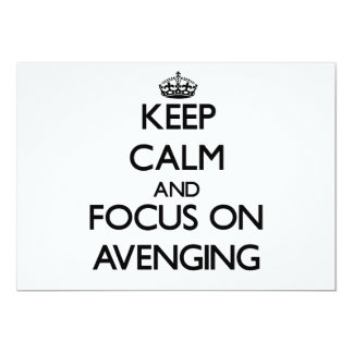 Keep Calm And Focus On Avenging 5x7 Paper Invitation Card