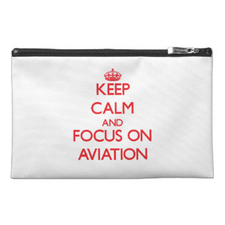 Keep calm and focus on AVIATION Travel Accessory Bag