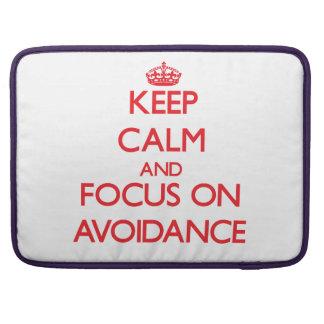 Keep calm and focus on AVOIDANCE MacBook Pro Sleeves