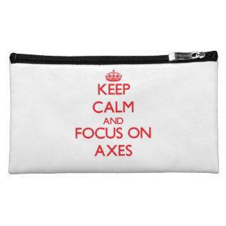 Keep calm and focus on AXES Cosmetic Bag