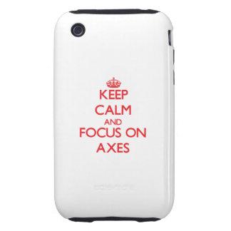 Keep calm and focus on AXES iPhone 3 Tough Case