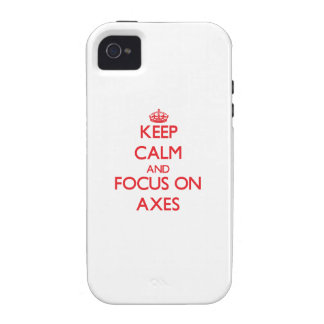 Keep calm and focus on AXES iPhone 4 Cover