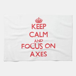 Keep calm and focus on AXES Towel