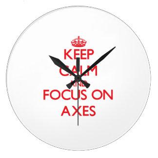 Keep calm and focus on AXES Wallclock