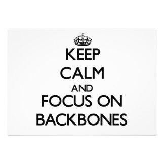 Keep Calm and focus on Backbones Custom Announcements
