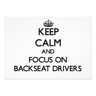 Keep Calm and focus on Backseat Drivers Custom Invitations