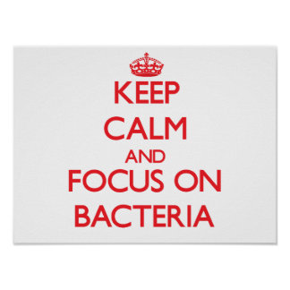 Keep Calm and focus on Bacteria Poster