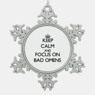 Keep Calm and focus on Bad Omens Ornaments