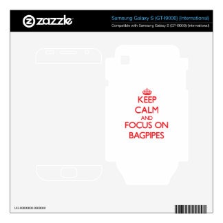 Keep Calm and focus on Bagpipes Samsung Galaxy S Decals