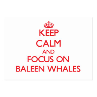 Keep calm and focus on Baleen Whales Business Card Template
