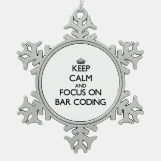 Keep Calm and focus on Bar Coding Ornament
