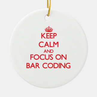 Keep Calm and focus on Bar Coding Christmas Tree Ornament