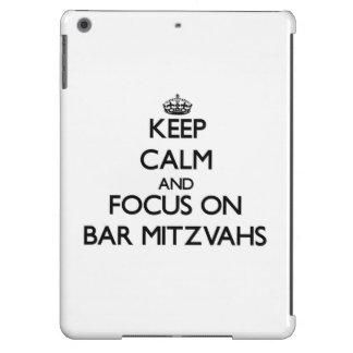 Keep Calm and focus on Bar Mitzvahs iPad Air Cases