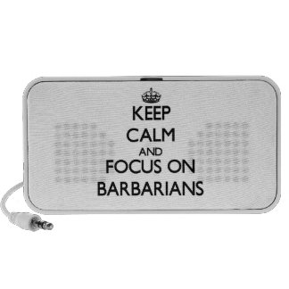 Keep Calm and focus on Barbarians Mini Speakers