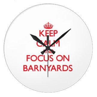 Keep Calm and focus on Barnyards Wallclocks