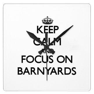 Keep Calm and focus on Barnyards Clock