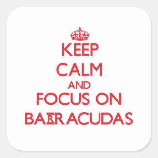 Keep Calm and focus on Barracudas Square Sticker