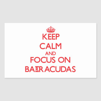 Keep Calm and focus on Barracudas Rectangle Stickers