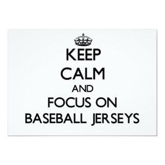 Keep Calm and focus on Baseball Jerseys Custom Invitations