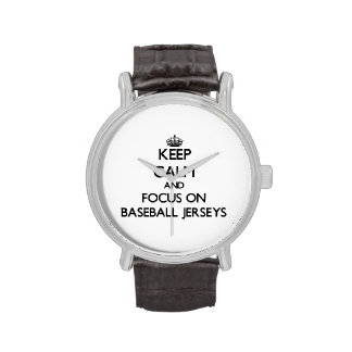 Keep Calm and focus on Baseball Jerseys Wrist Watch
