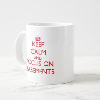 Keep Calm and focus on Basements 20 Oz Large Ceramic Coffee Mug