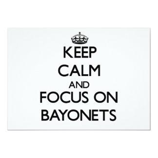 """Keep Calm and focus on Bayonets 5"""" X 7"""" Invitation Card"""