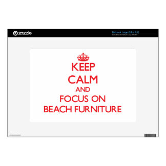 Keep Calm and focus on Beach Furniture Skins For Large Netbooks