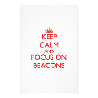 Keep Calm and focus on Beacons Personalized Stationery