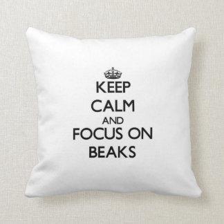 Keep Calm and focus on Beaks Pillows