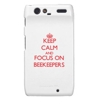 Keep Calm and focus on Beekeepers Motorola Droid RAZR Case