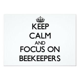 "Keep Calm and focus on Beekeepers 5"" X 7"" Invitation Card"