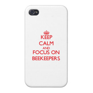 Keep Calm and focus on Beekeepers iPhone 4 Case