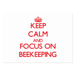 Keep calm and focus on Beekeeping Business Card Templates