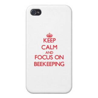 Keep calm and focus on Beekeeping iPhone 4 Cover